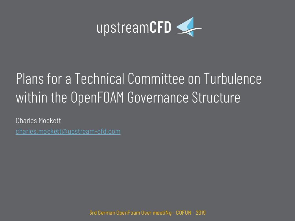 Presentation at GOFUN 2019 – Upstream CFD